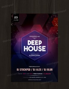 Deep House – Free PSD Flyer Template