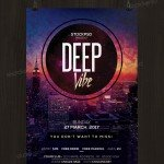 Deep Vibe - Download Free PSD Flyer Template