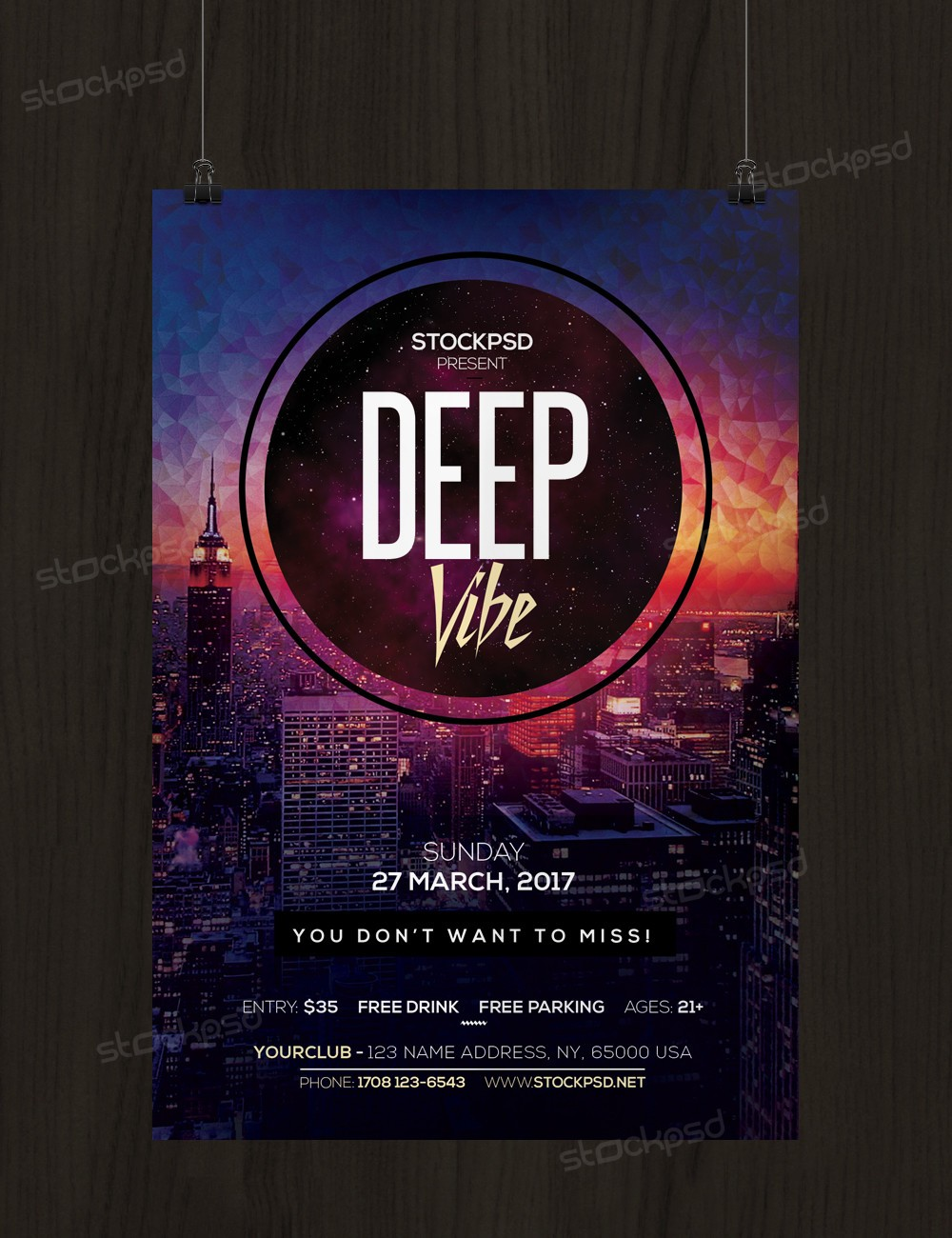 deep vibe psd flyer template net deep vibe is a psd flyer template to