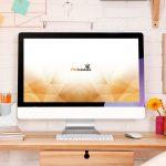 Feminine iMac Workstation Mockup