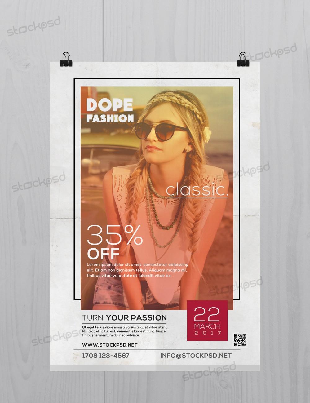 Dope Classic Fashion Free Psd Flyer Template Stockpsd