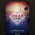 Dream Sound – Free PSD Flyer Template