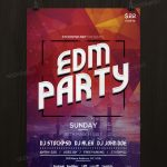 EDM Party - Freebie PSD Flyer Template