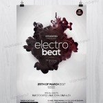 Electro Beat – Free PSD Flyer Template