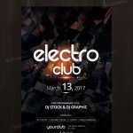 Electro Club - Freebie PSD Flyer Template