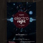 Electro Night - Free PSD Flyer Template