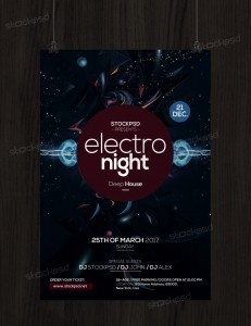 Electro Night – Free PSD Flyer Template