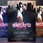 Electro Party -Download Free PSD Flyer Template
