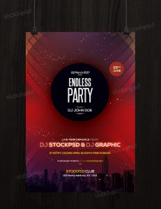 Download Endless Party – Free PSD Flyer Template
