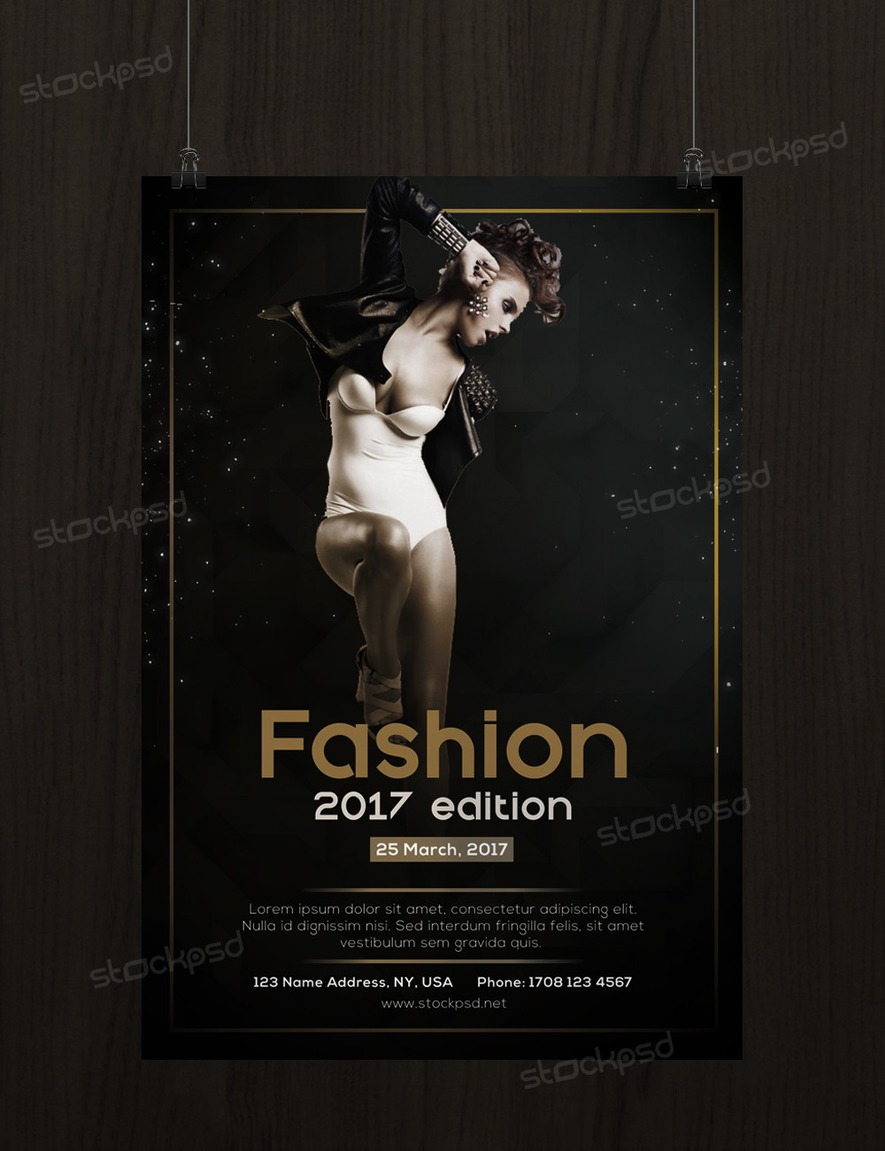 Fashion 2017 Edition – FREE PSD Flyer Template