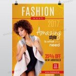 Fashion Week 2017 - Free PSD Flyer Template