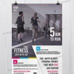 First Fitness – Free PSD Health & Sport Flyer Template