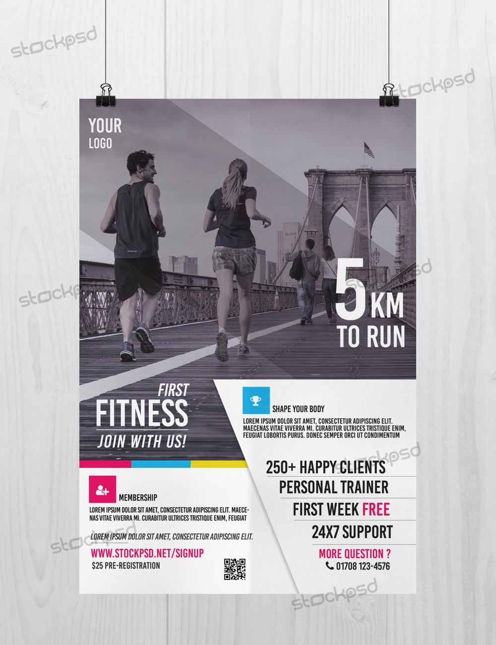 Stockpsd Free PSD Flyers Brochures and more – Free Fitness Flyer Templates