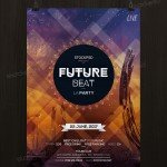 Future Beat - Free Futuristic PSD Flyer Template