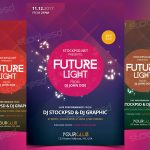Future Light – Download Free PSD Flyer Template