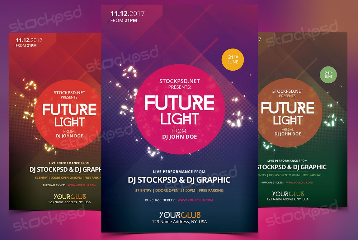 future light psd flyer template stockpsd net we