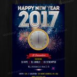 2017 Free New Years Eve - FREE PSD Flyer Template