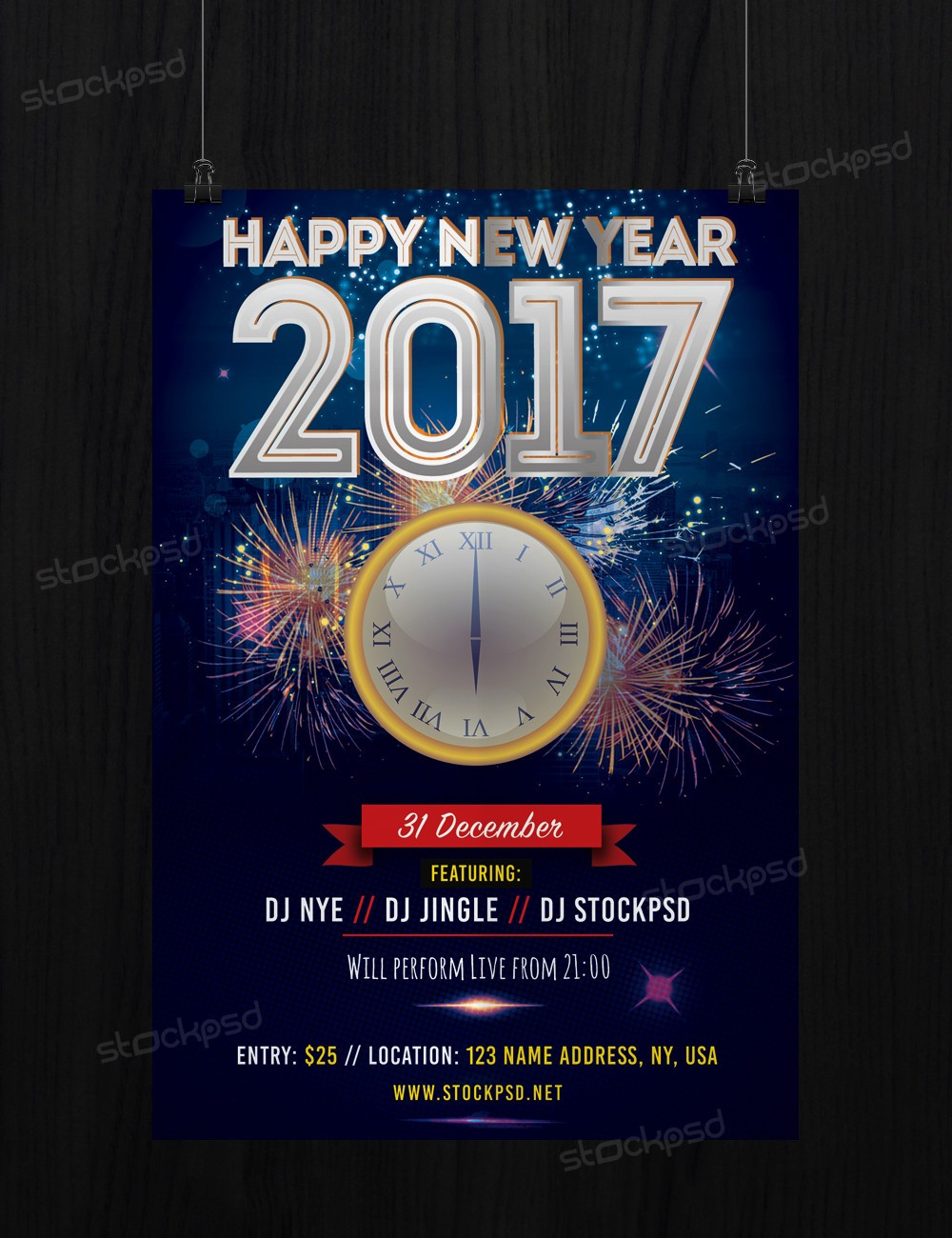 new years eve psd flyer template net