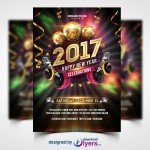 New Year 2017 Party - Free PSD Flyer Template
