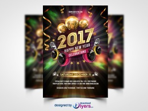 New Year 2017 Party – Free PSD Flyer Template