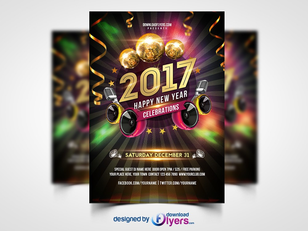 New Year  Party  Free Psd Flyer Template  StockpsdNet  Free