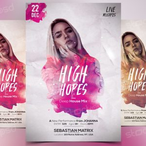High Hopes - Download Free PSD Flyer Template