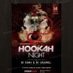 Hookah Night - Free PSD Flyer Template