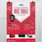Holiday 2017 Big Sale – FREE PSD Flyer Template