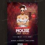 House Deep Remix - Free PSD Flyer Template