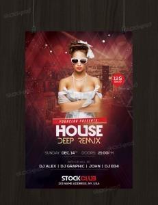 House Deep Remix – Free PSD Flyer Template