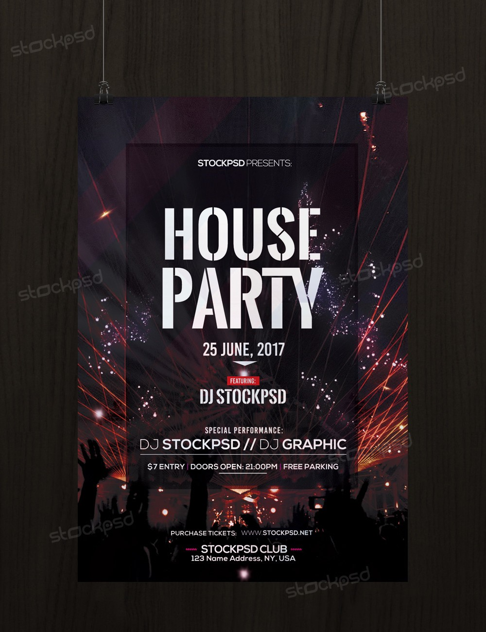 what is a psd template - freebie templates house party download