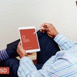 iPad Air In-Hand Photorealistic Mockup Freebie PSD