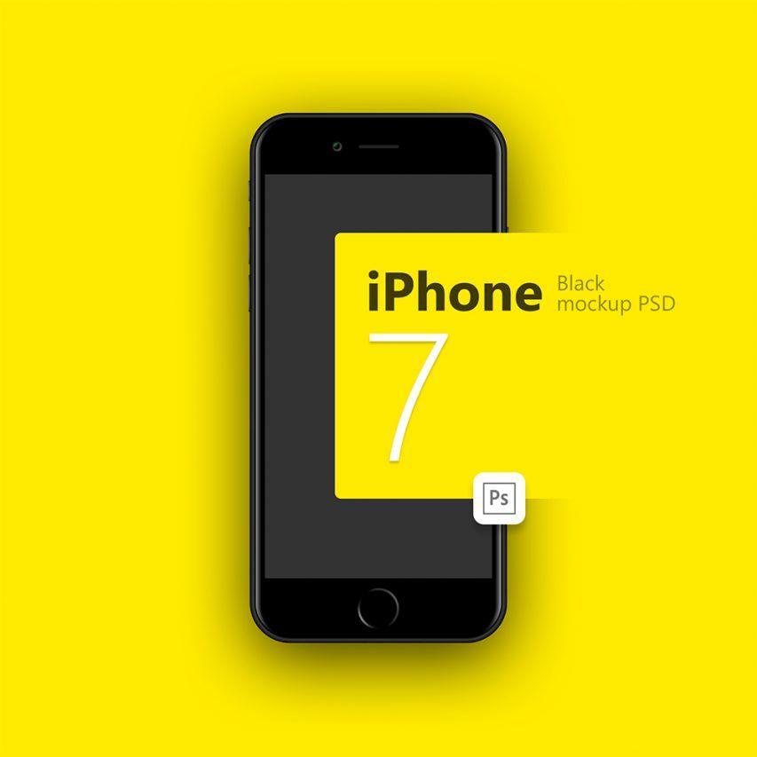 iPhone 7 Black – Free PSD Mockup