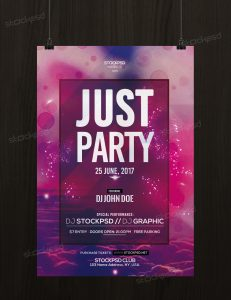 Just Party – Download Free PSD Flyer Template