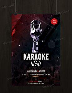Karaoke Night – Free PSD Flyer Template