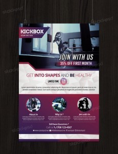 Kick-Boxing and Gym – Free PSD Flyer Template