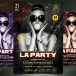 LA Party - Download Free PSD Flyer Template