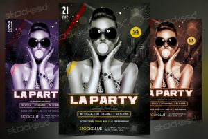 LA Party – Download Free PSD Flyer Template