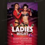 Ladies Night - Download Freebie PSD Flyer Template