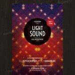 Light Sound - Free PSD Flyer Template