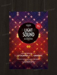 Light Sound – Free PSD Flyer Template