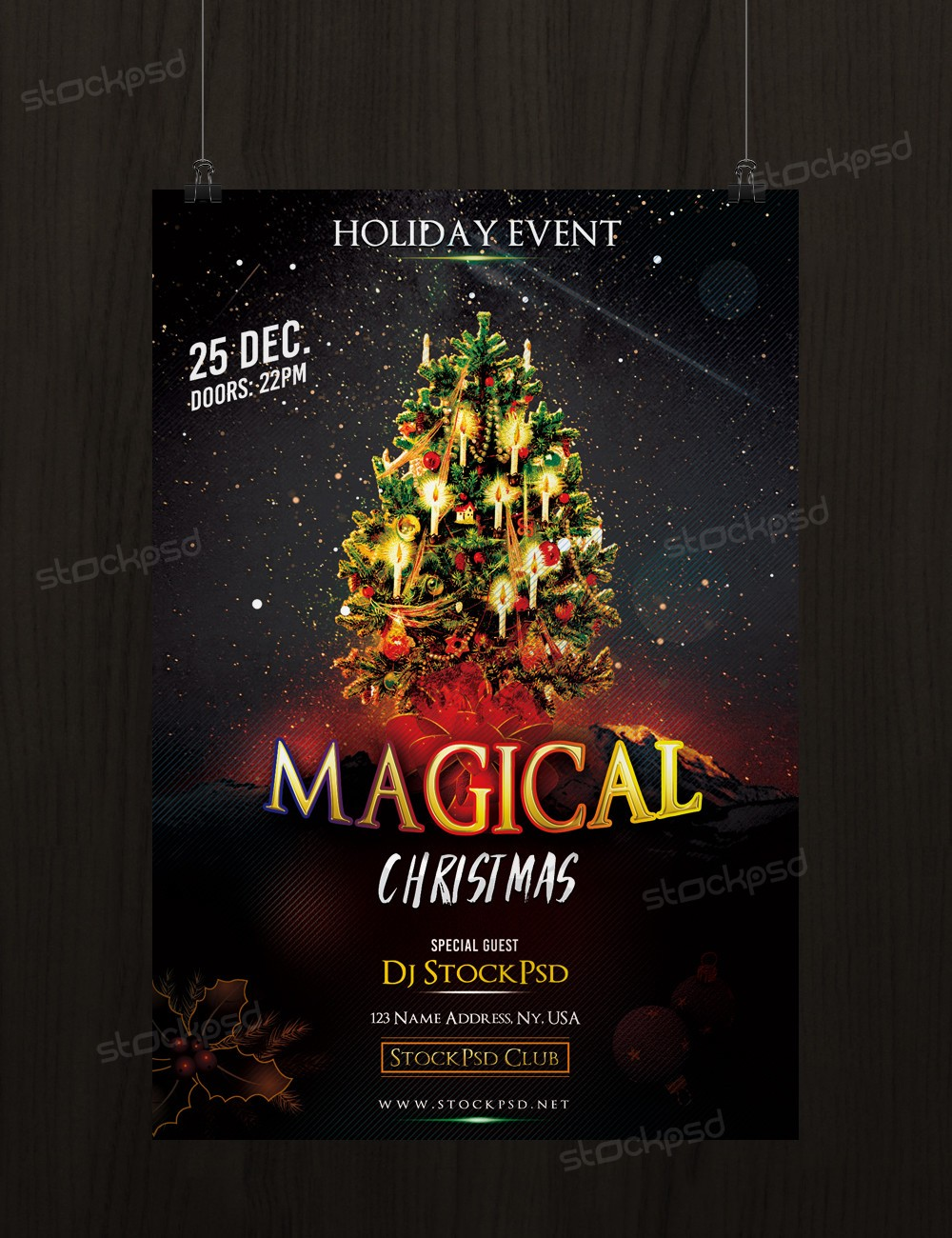Download Magical Christmas Free Psd Flyer Template Stockpsd