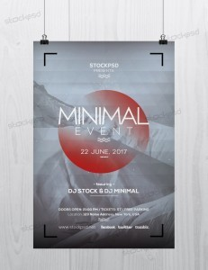 Minimal Event – FREE PSD Flyer Template