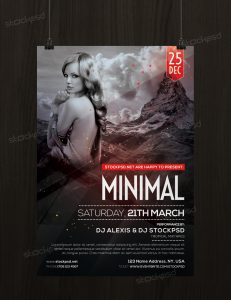 Minimal – Download Free PSD Flyer Template