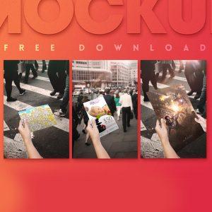 Free Photorealistic PSD Flyer Mockup