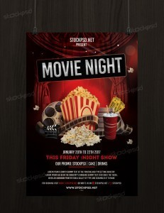 Movie Night #2 – Free PSD Flyer Template
