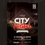 City Night - Free PSD Flyer Template