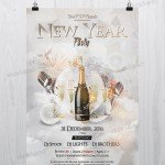 New Year 2017 Party – PSD Free NYE Flyer Template