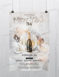 New Year 2021 Party – PSD Free NYE Flyer Template