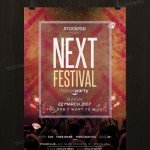 Next Festival - Free PSD Flyer Template